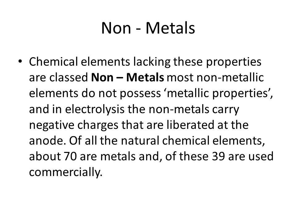Non - Metals