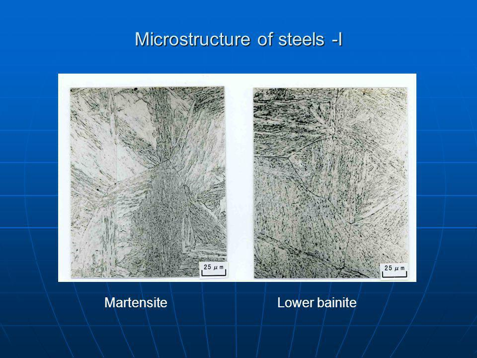 Microstructure of steels -I