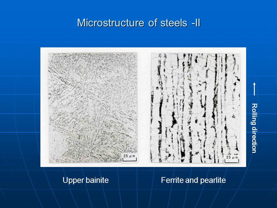 Microstructure of steels -II