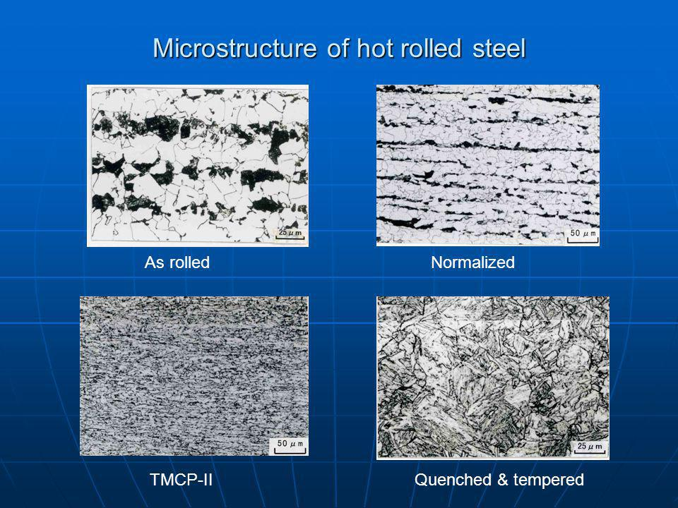 Microstructure of hot rolled steel