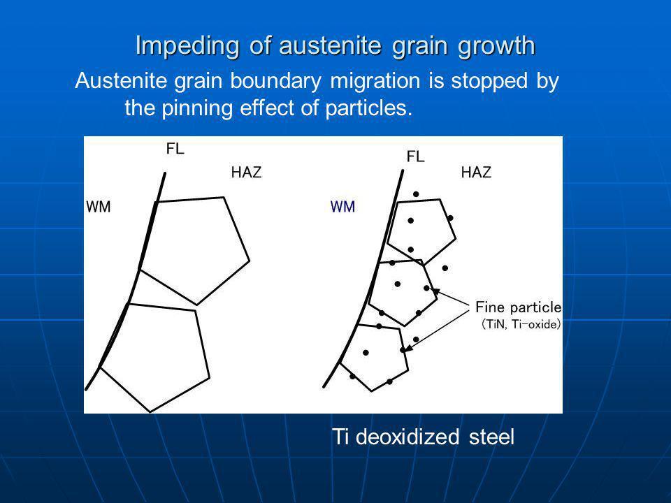 Impeding of austenite grain growth