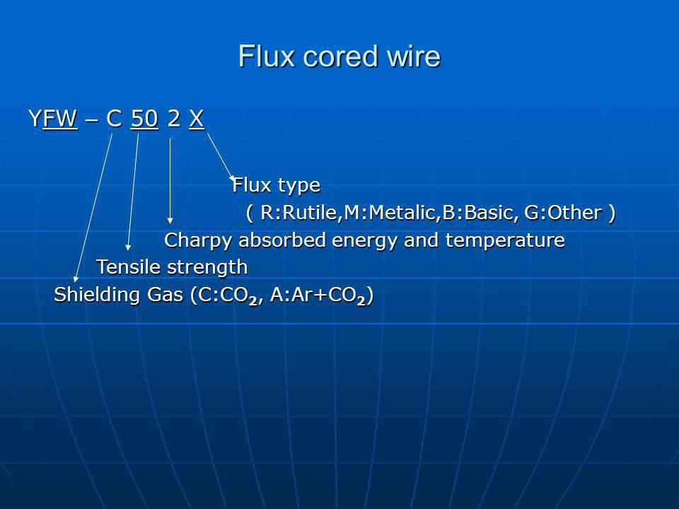 Flux cored wire YFW – C 50 2 X Flux type