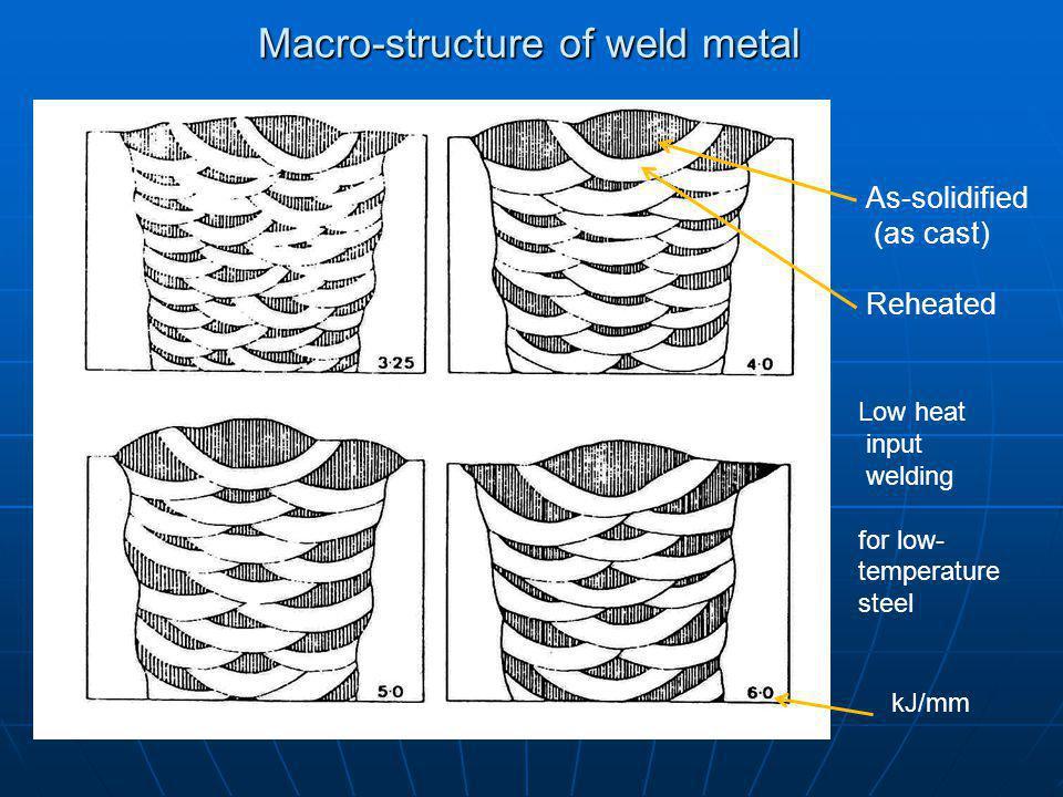 Macro-structure of weld metal