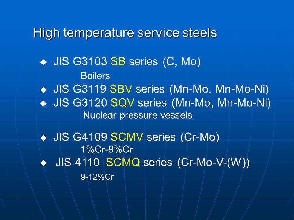High temperature service steels