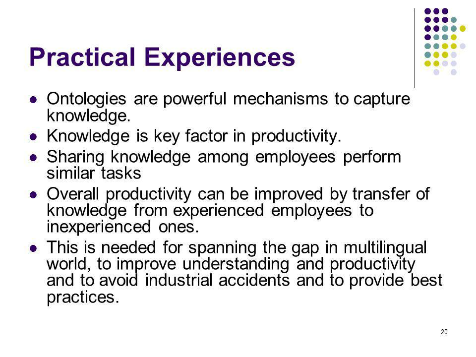 Practical Experiences