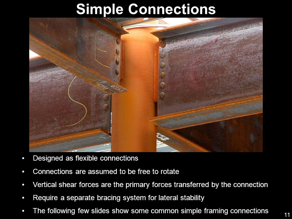 Simple Connections Designed as flexible connections