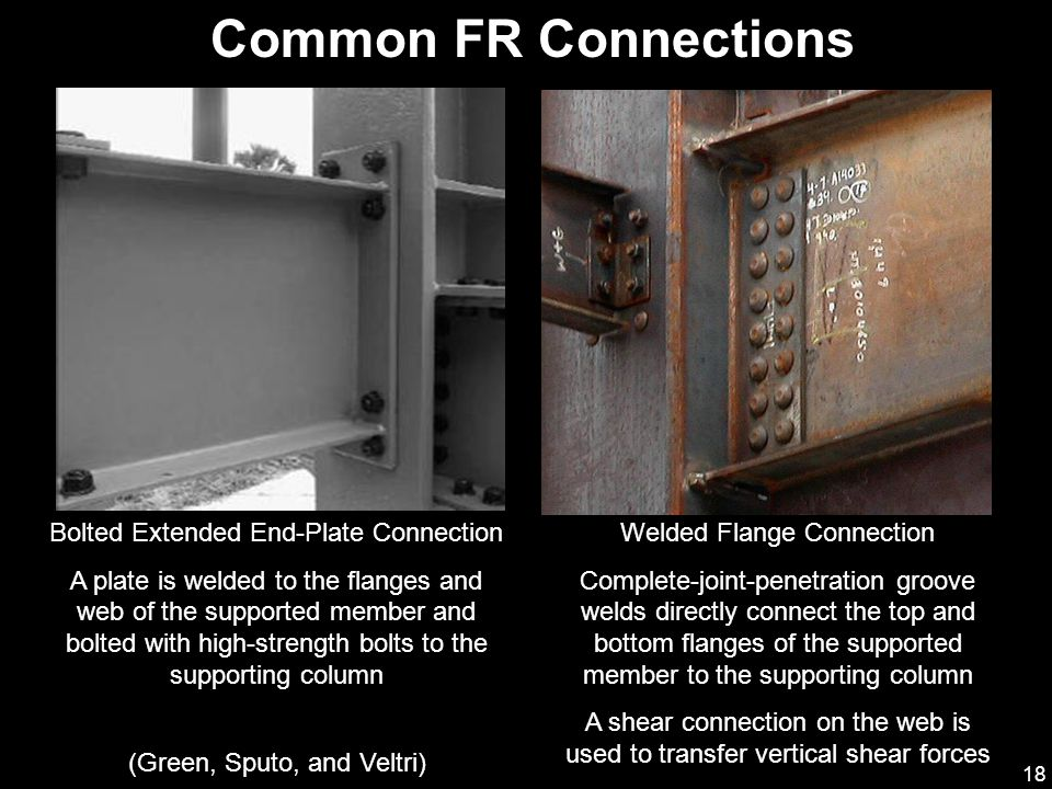 Common FR Connections Bolted Extended End-Plate Connection