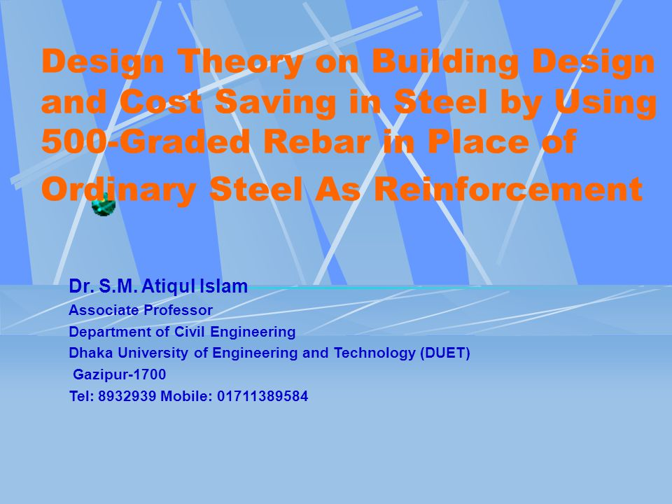 Design Theory on Building Design and Cost Saving in Steel by Using 500-Graded Rebar in Place of Ordinary Steel As Reinforcement