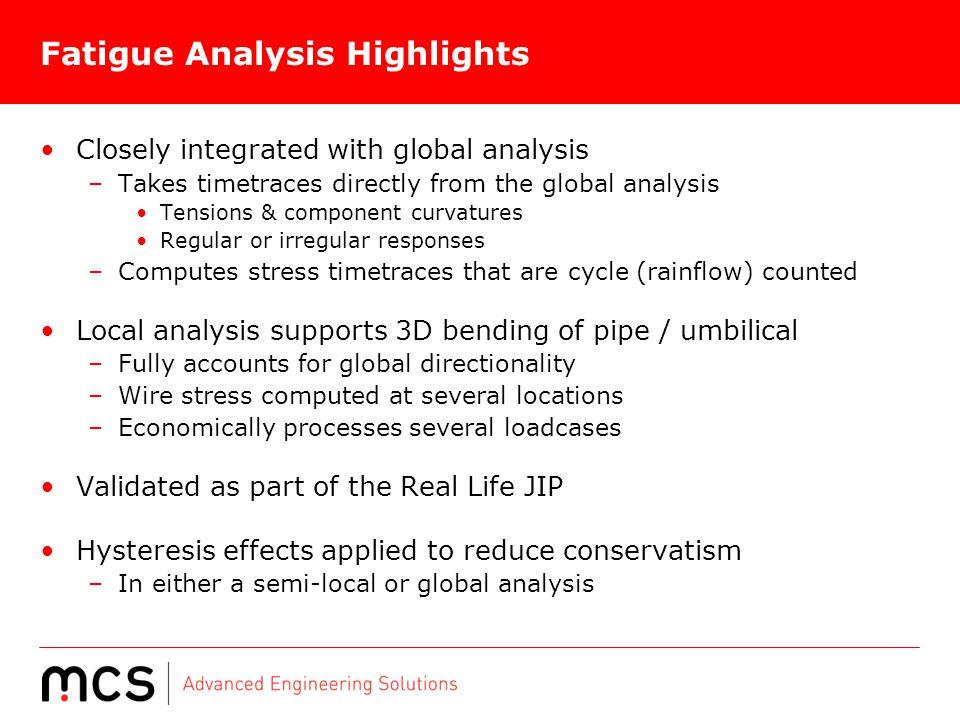 Fatigue Analysis Highlights