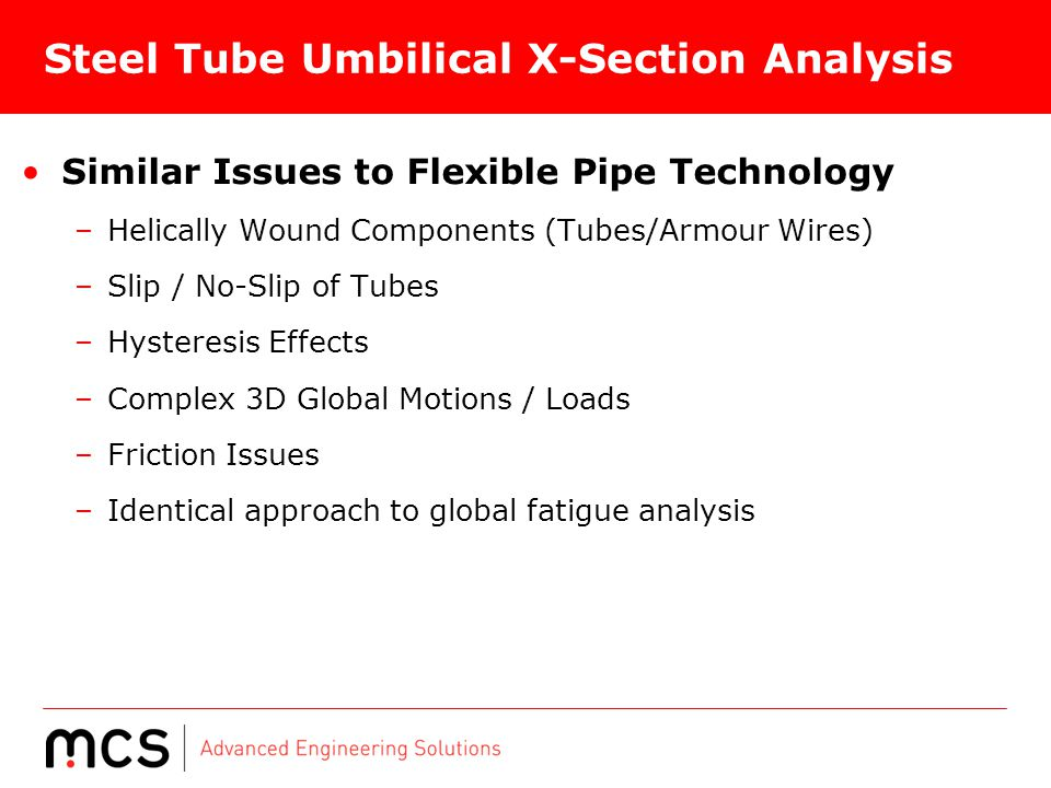 Steel Tube Umbilical X-Section Analysis
