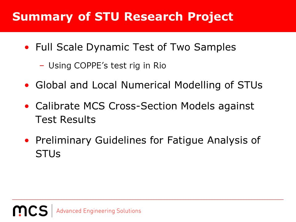 Summary of STU Research Project