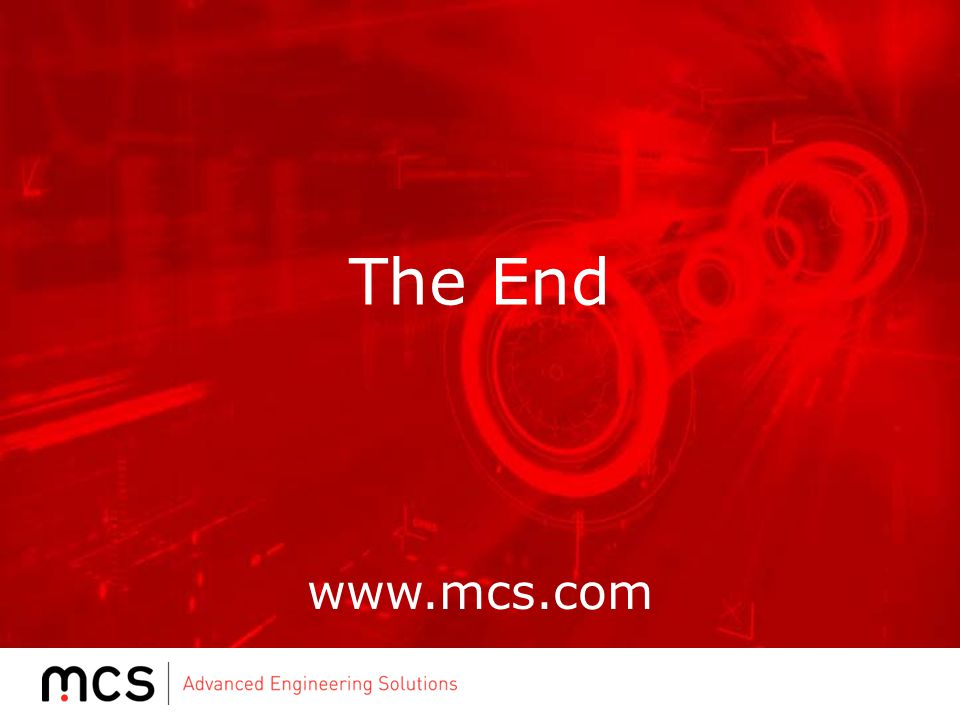 The End www.mcs.com