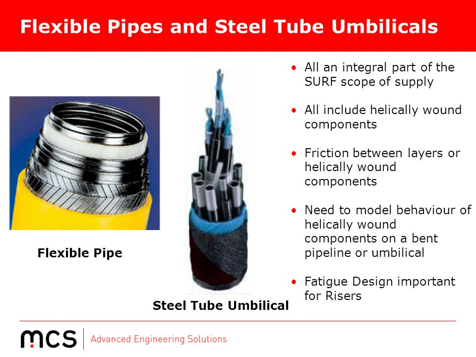 Flexible Pipes and Steel Tube Umbilicals