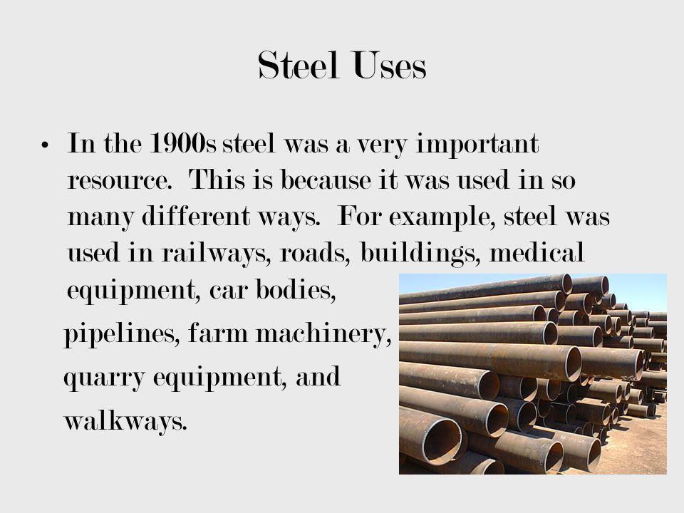 Steel Uses