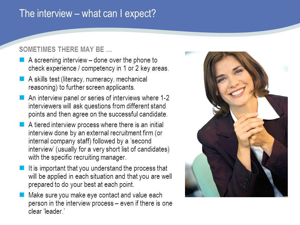 The interview – what can I expect