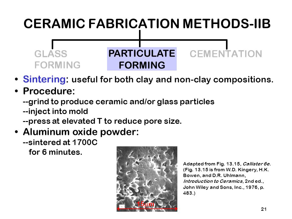CERAMIC FABRICATION METHODS-IIB