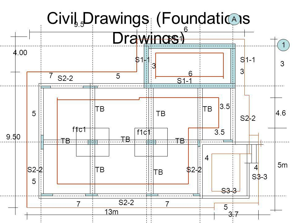 Civil Drawings (Foundations Drawings)