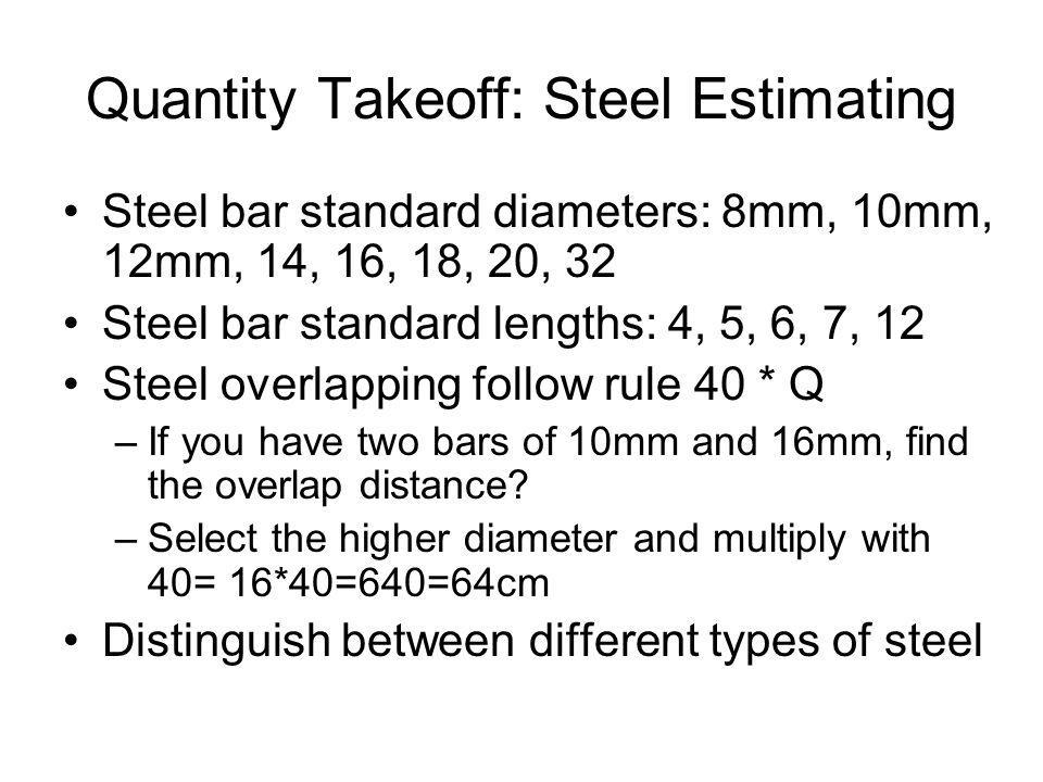 Quantity Takeoff: Steel Estimating