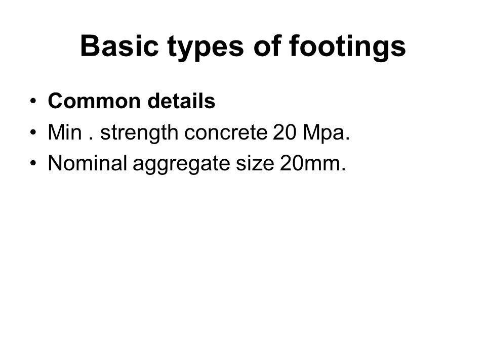 Basic types of footings