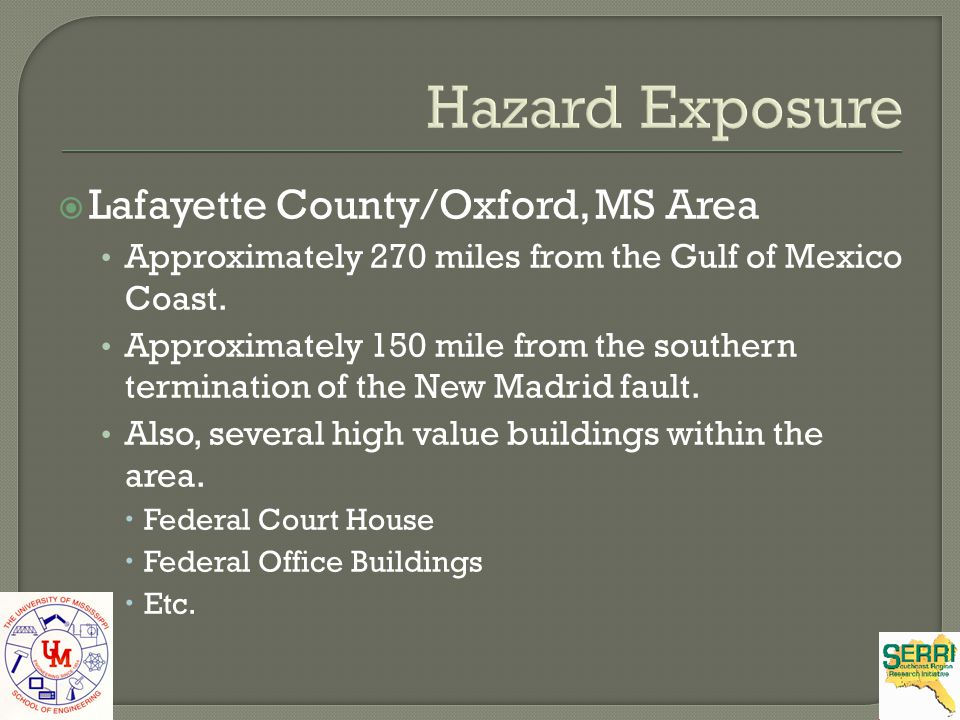 Hazard Exposure Lafayette County/Oxford, MS Area