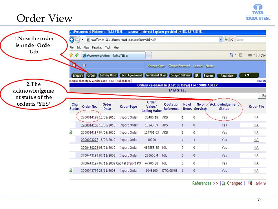 Order View 1.Now the order is under Order Tab