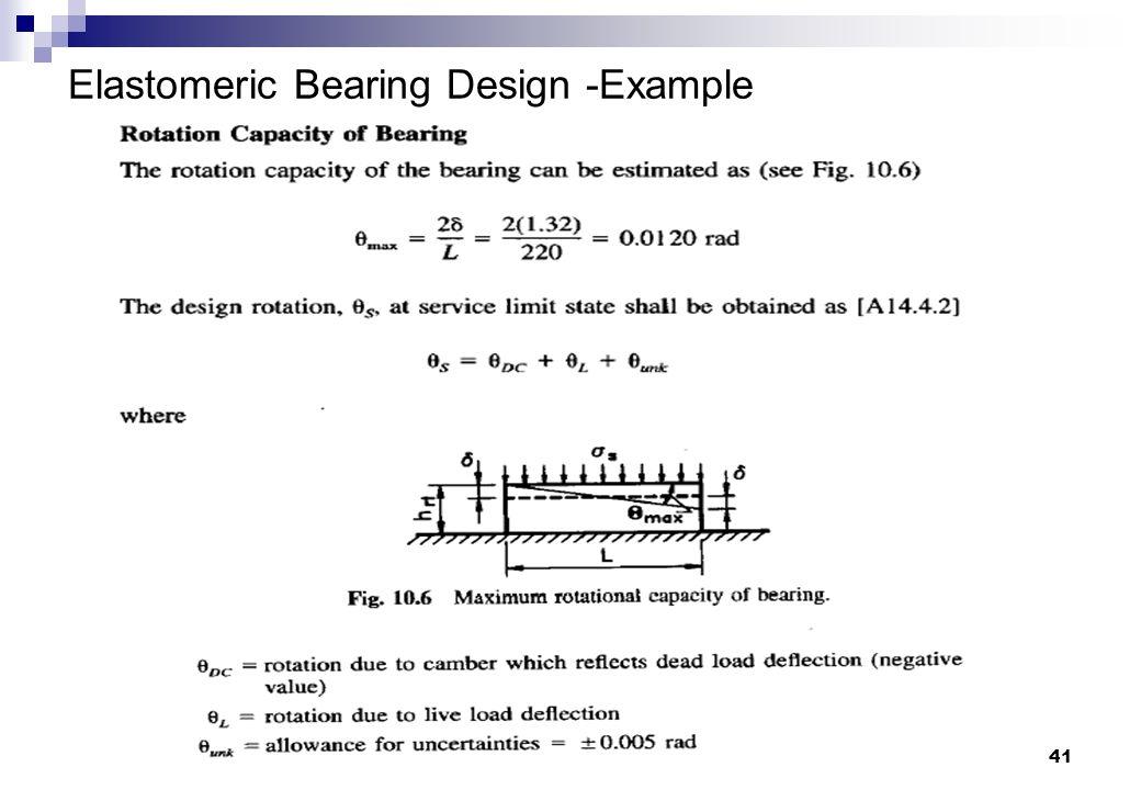 Elastomeric Bearing Design -Example