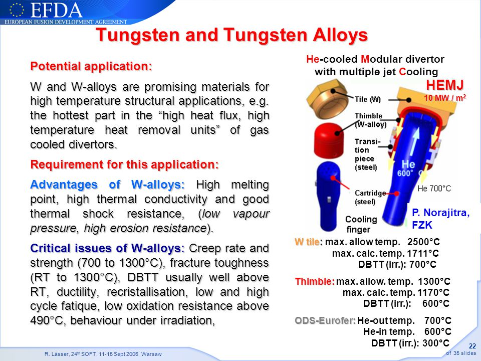 Tungsten and Tungsten Alloys