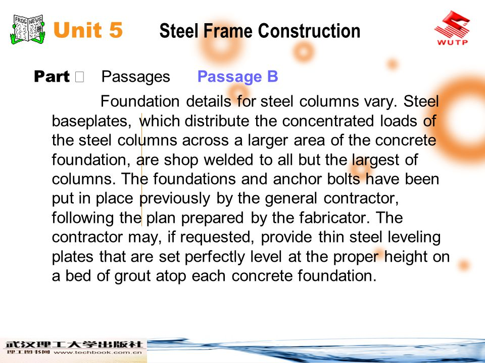 Unit 5 Steel Frame Construction