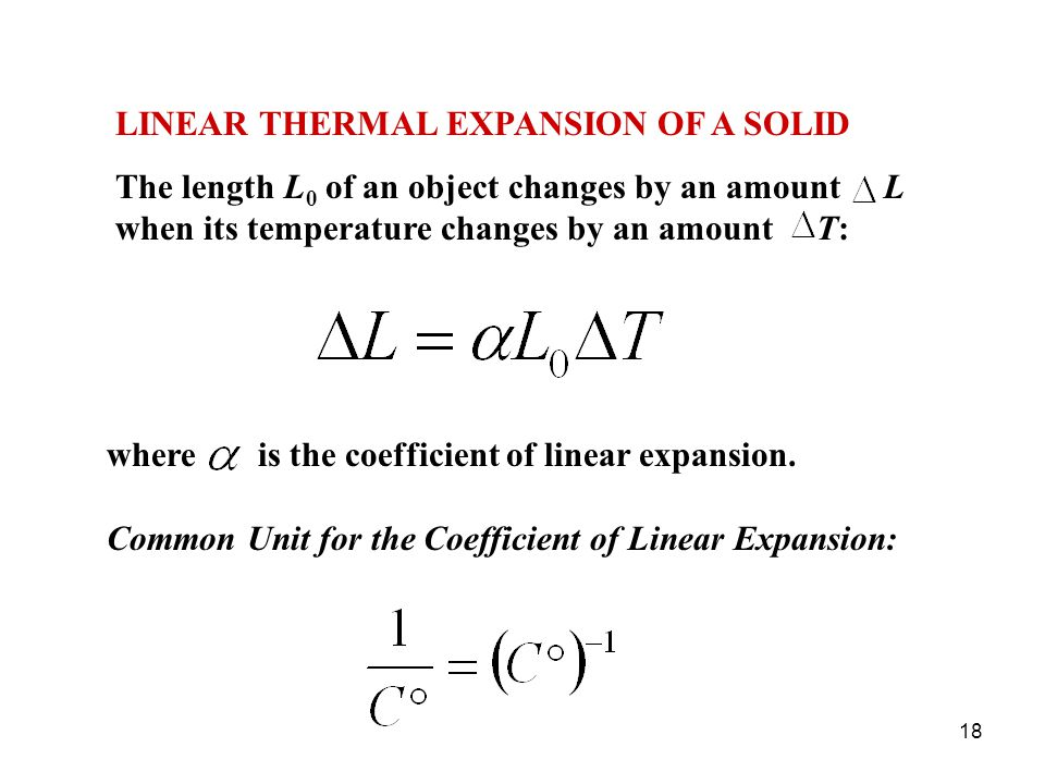 LINEAR THERMAL EXPANSION OF A SOLID