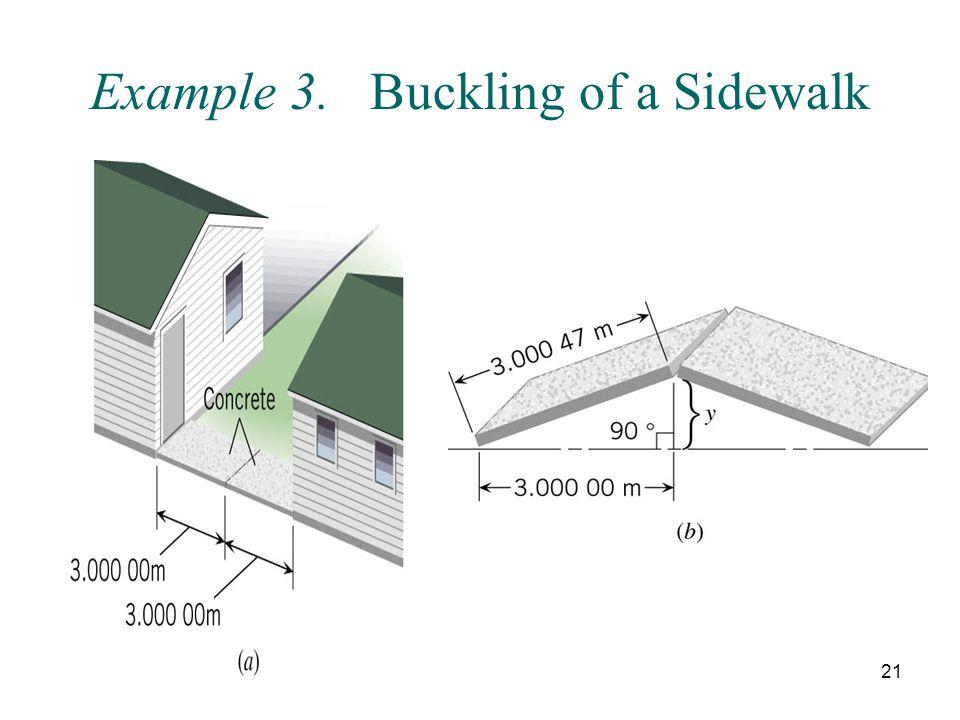 Example 3. Buckling of a Sidewalk