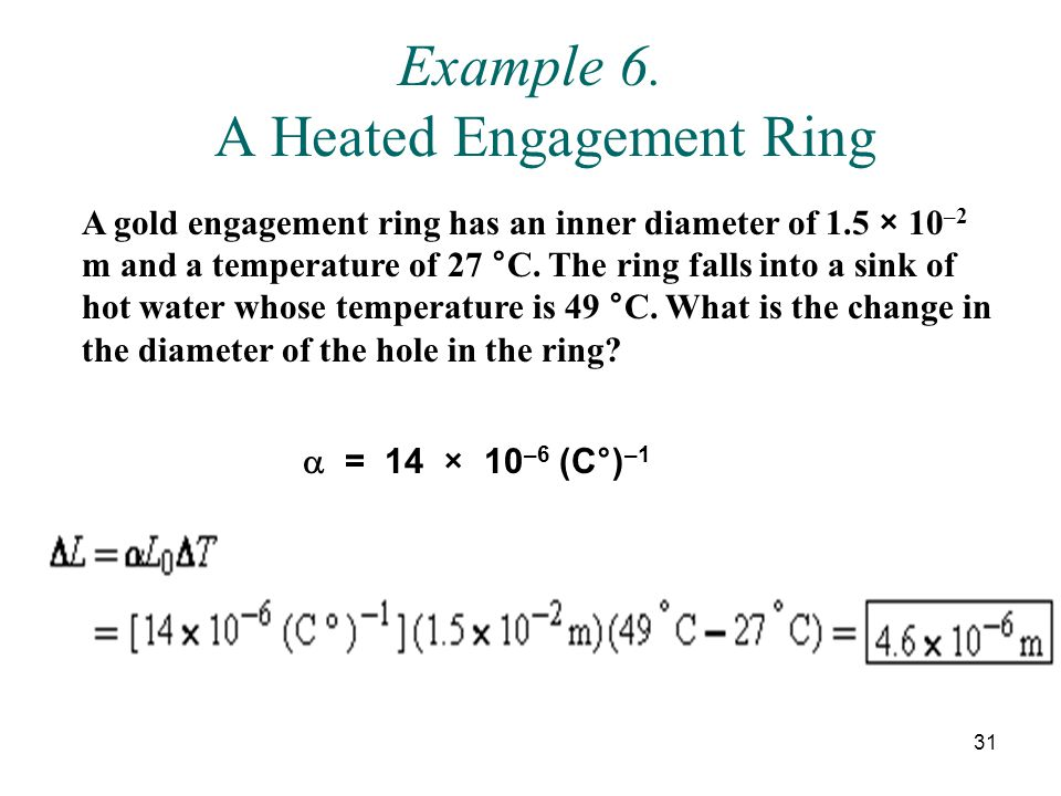 Example 6. A Heated Engagement Ring