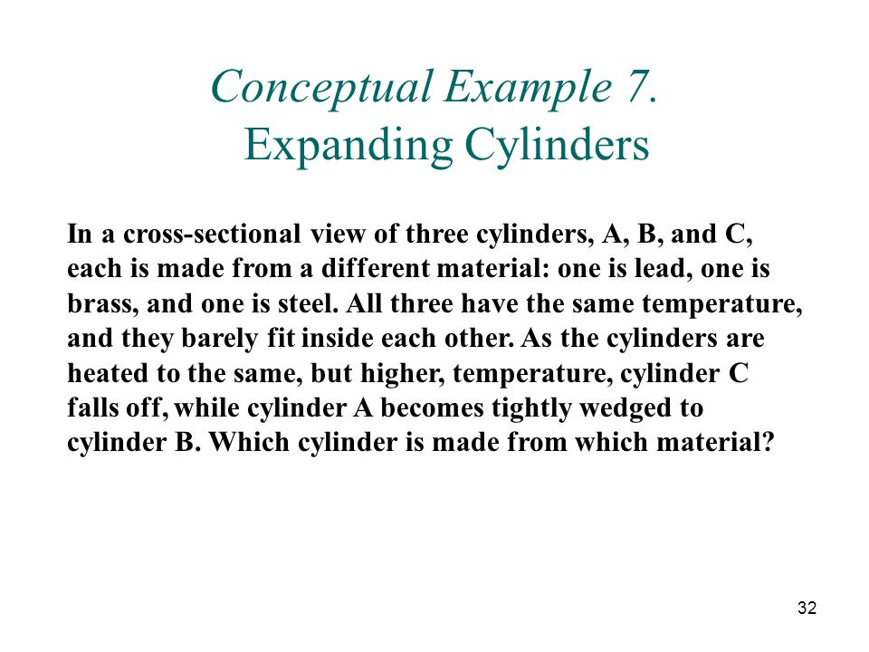 Conceptual Example 7. Expanding Cylinders
