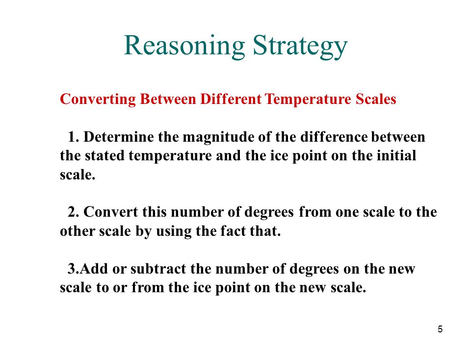 Reasoning Strategy Converting Between Different Temperature Scales