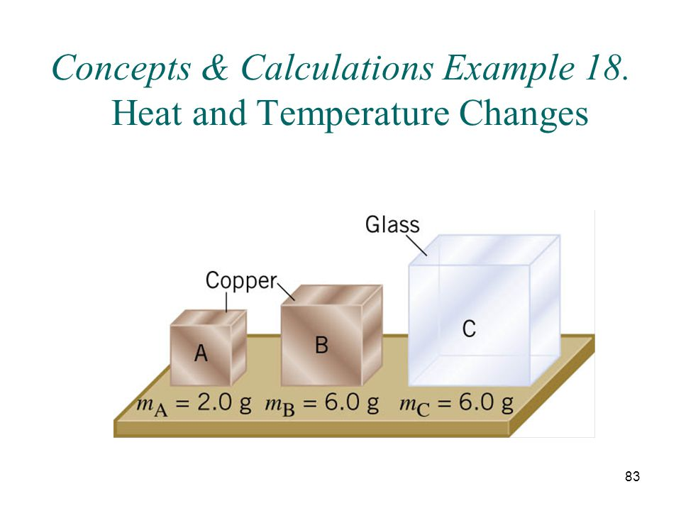 Concepts & Calculations Example 18. Heat and Temperature Changes