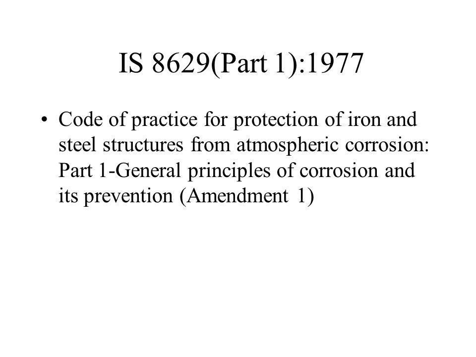 IS 8629(Part 1):1977