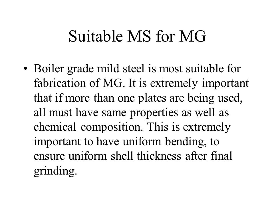 Suitable MS for MG