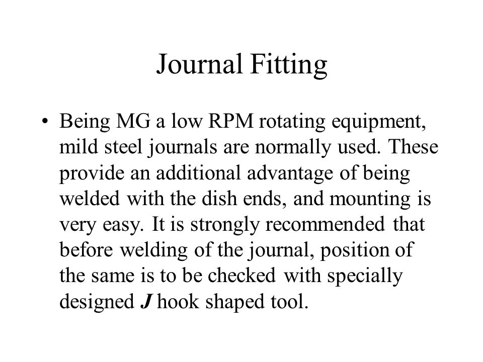 Journal Fitting