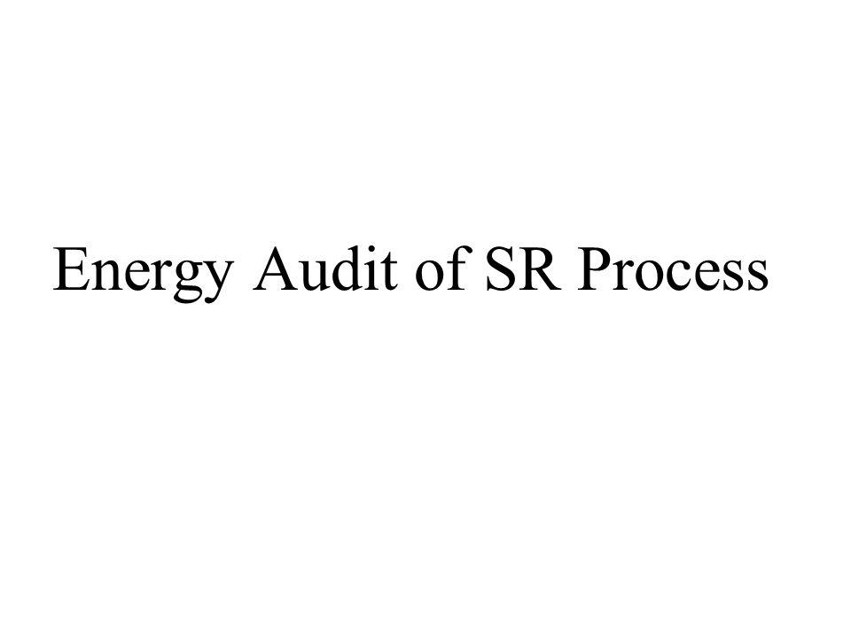 Energy Audit of SR Process