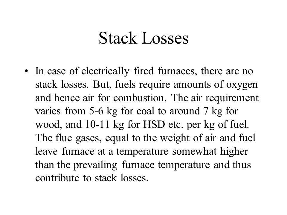 Stack Losses