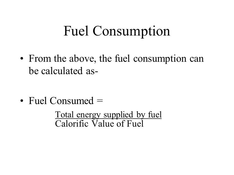 Calorific Value of Fuel