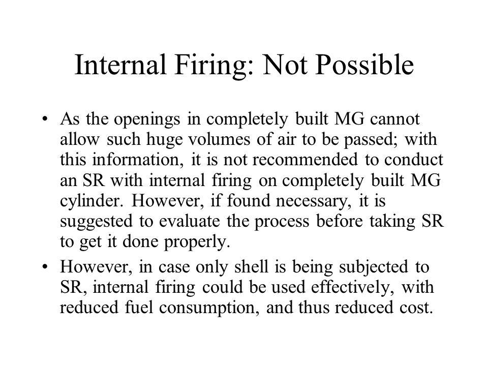 Internal Firing: Not Possible