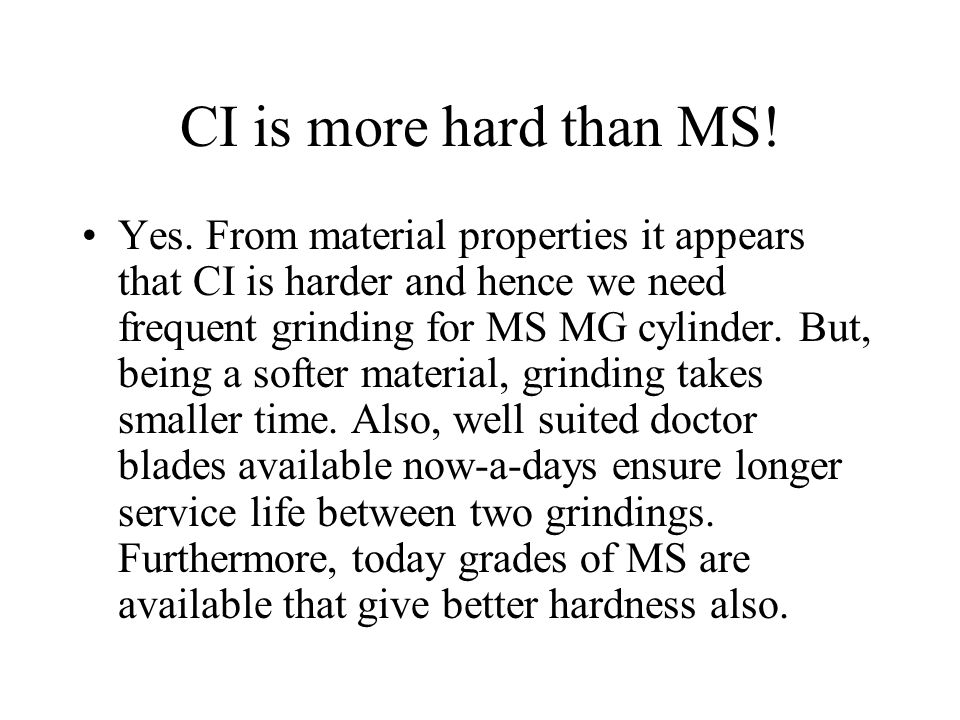 CI is more hard than MS!