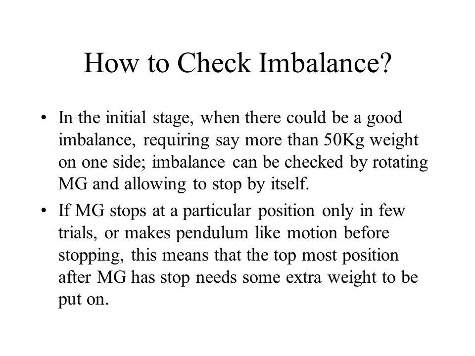 How to Check Imbalance