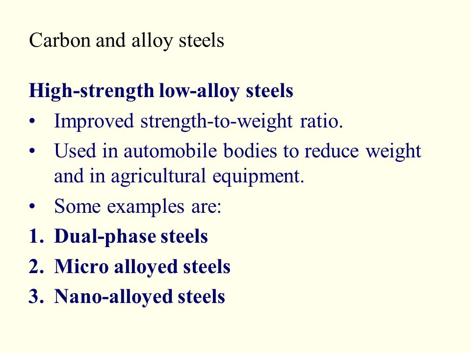 Carbon and alloy steels