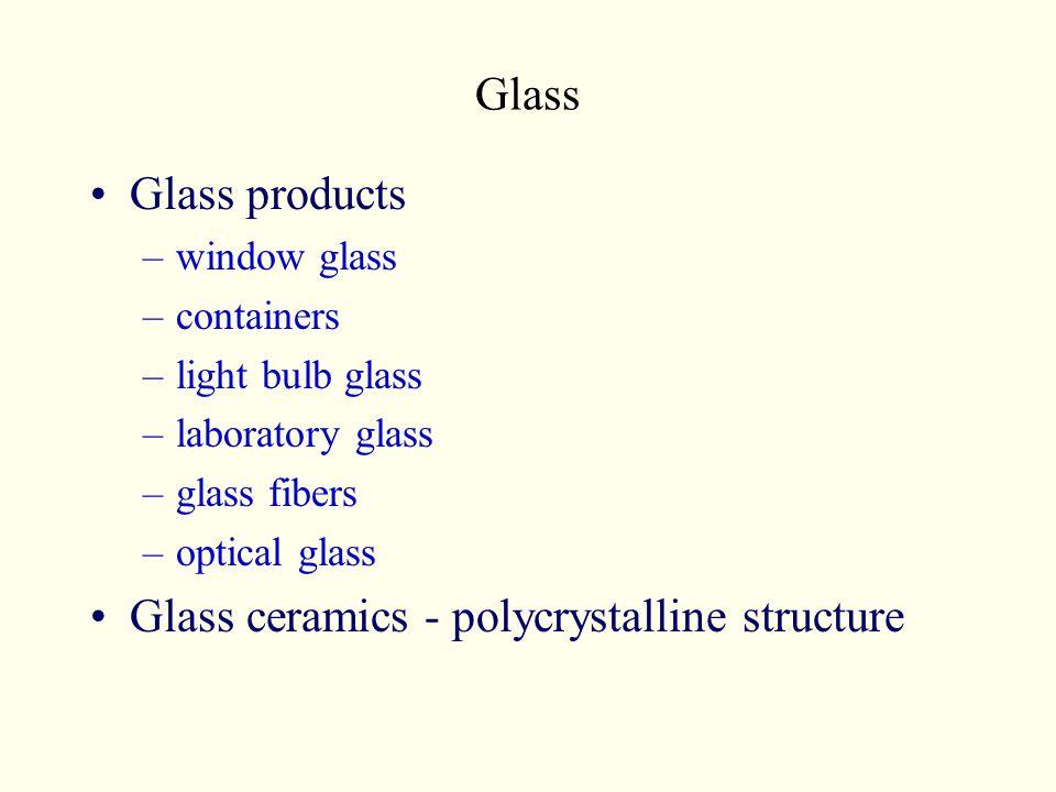 Glass ceramics - polycrystalline structure