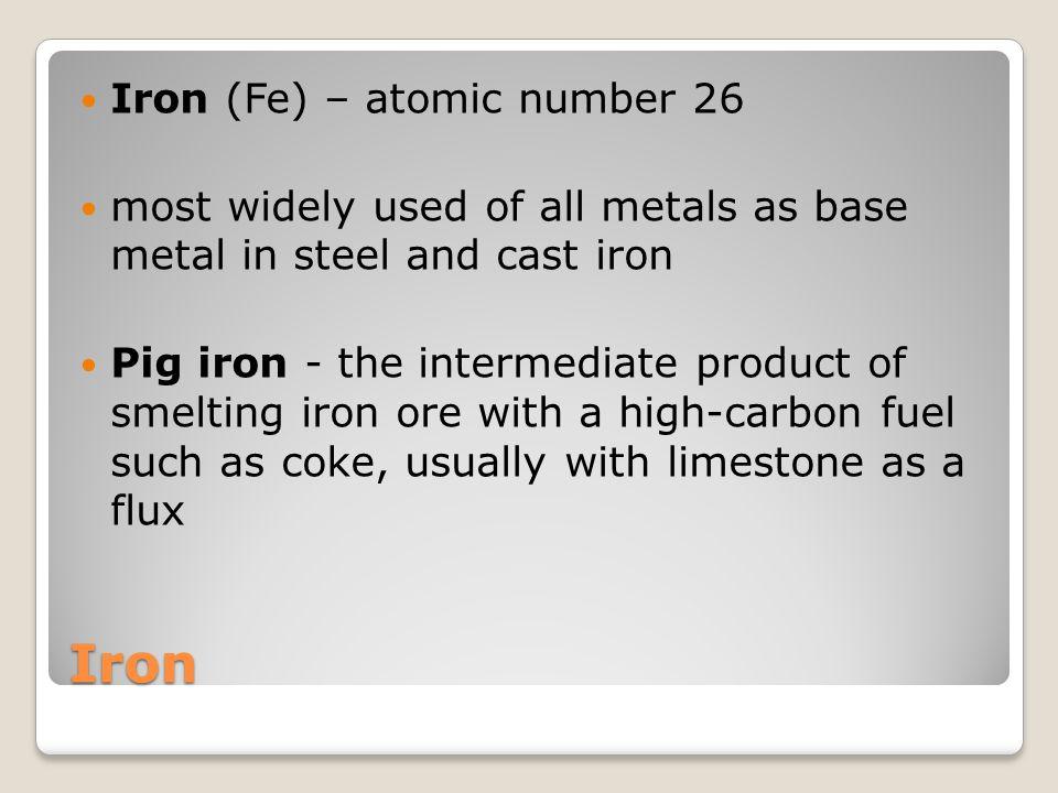 Iron Iron (Fe) – atomic number 26