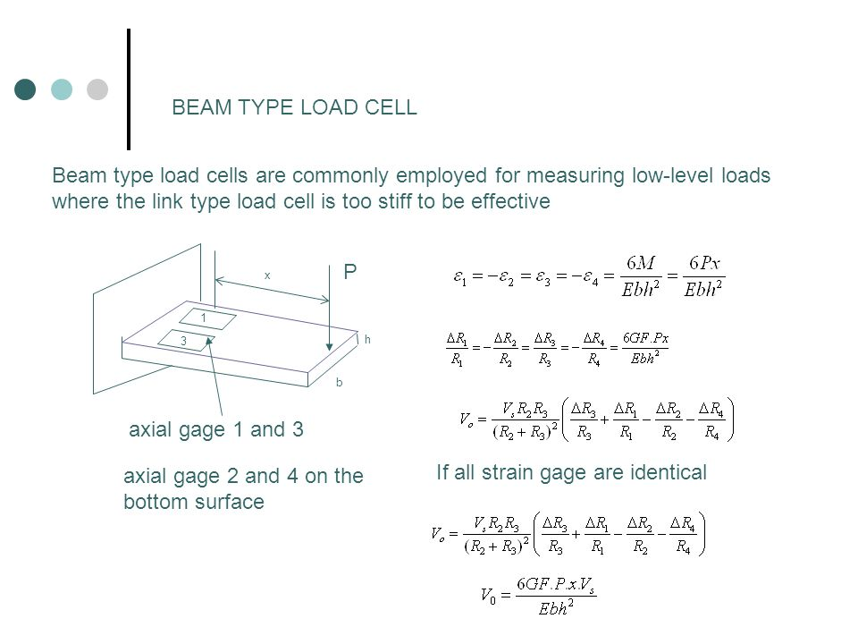 where the link type load cell is too stiff to be effective