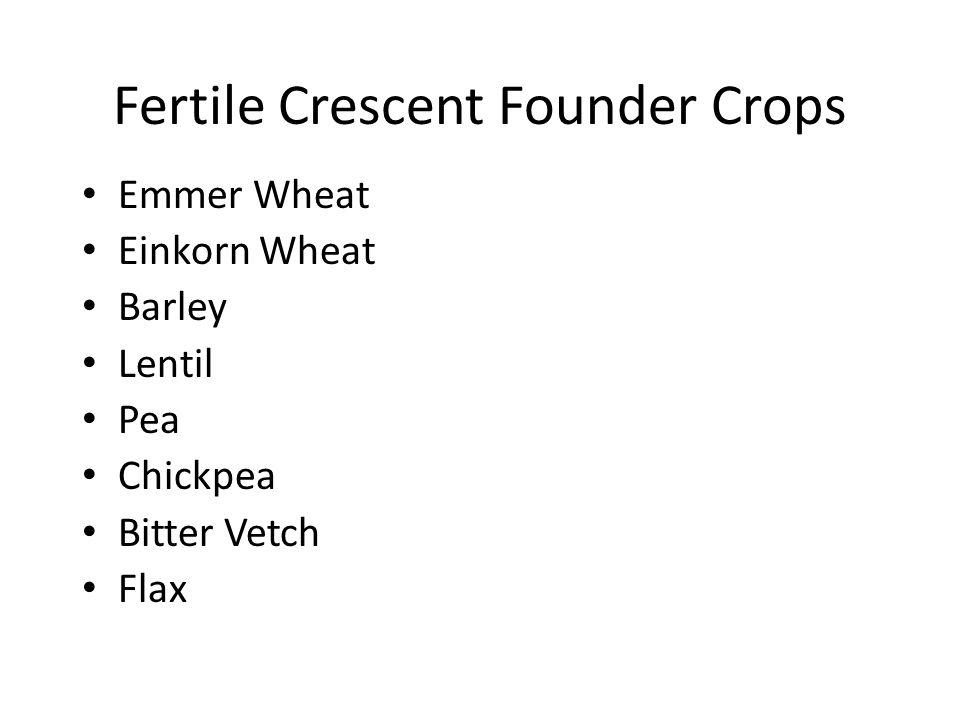 Fertile Crescent Founder Crops