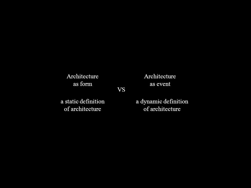 a static definition of architecture