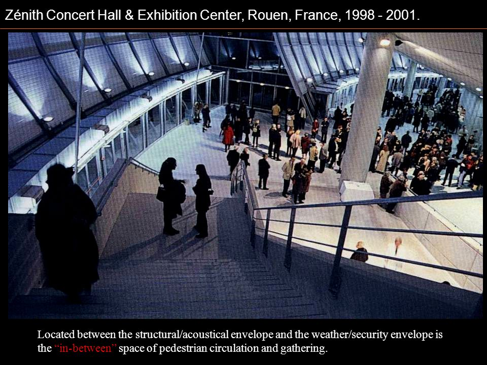 Zénith Concert Hall & Exhibition Center, Rouen, France, 1998 - 2001.